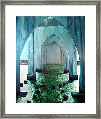 Siuslaw River Bridge Framed Print