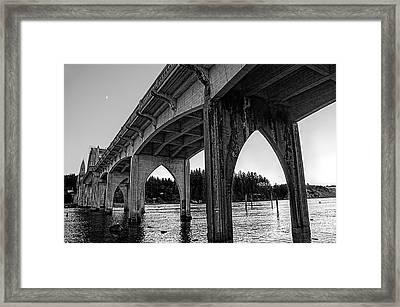 Siuslaw River Bridge Portrait Framed Print