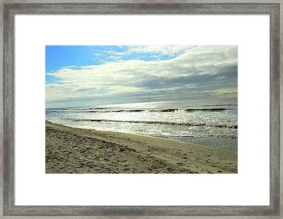 Siver Sea Framed Print by F Salem
