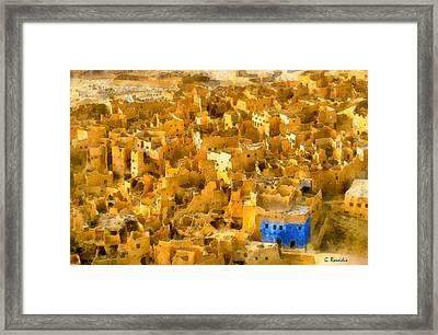 Siwa Oasis Framed Print by George Rossidis