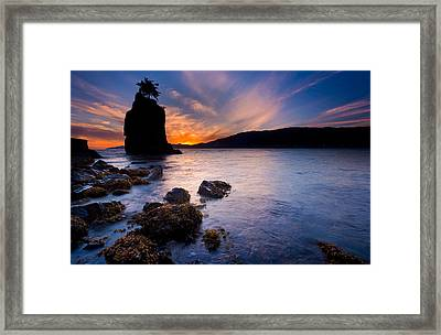 Siwash Rock Framed Print by Alexis Birkill