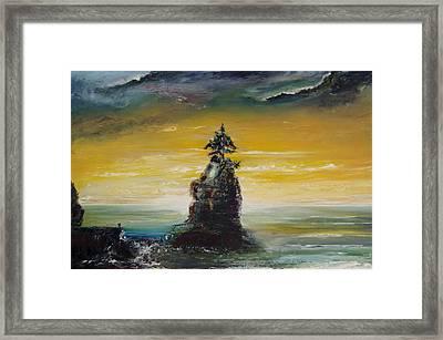 Siwash Rock Framed Print by Martin Ruygrok