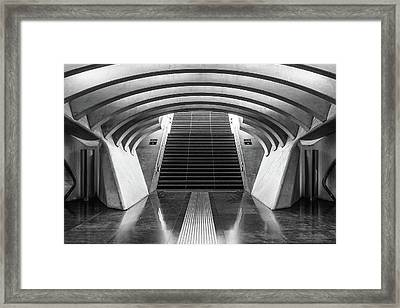 Six And Seven Framed Print