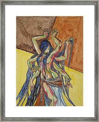 Six Armed Goddess Framed Print