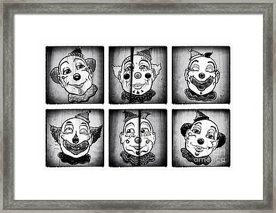 Six Clowns Framed Print by John Rizzuto