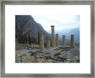 Framed Print featuring the photograph Six Columns by Marilyn Zalatan