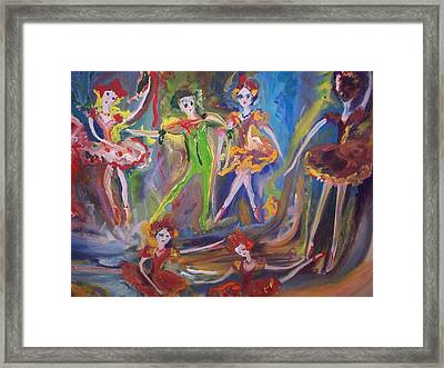 Six Eight Waltz Framed Print by Judith Desrosiers