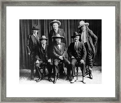 Six Famous Frontiersmen Framed Print