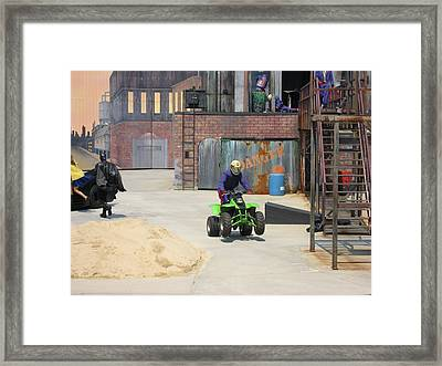 Six Flags America - 121228 Framed Print by DC Photographer