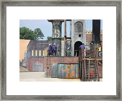 Six Flags America - 12126 Framed Print by DC Photographer