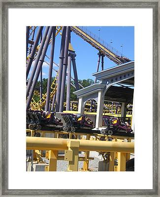 Six Flags America - Batwing Roller Coaster - 12125 Framed Print by DC Photographer