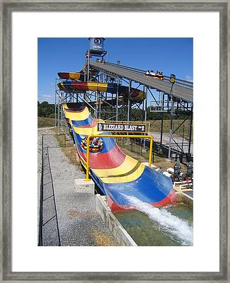 Six Flags America - Blizzard Blast - 12121 Framed Print by DC Photographer