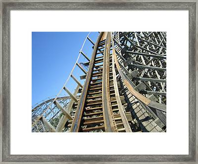 Six Flags America - Roar Roller Coaster - 12123 Framed Print by DC Photographer