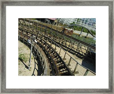 Six Flags America - Roar Roller Coaster - 12124 Framed Print by DC Photographer