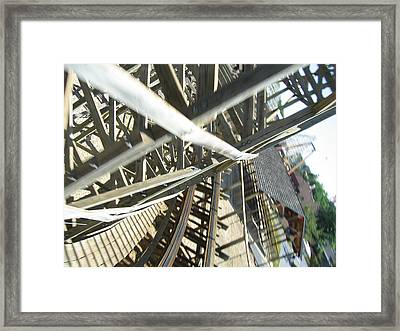 Six Flags America - Roar Roller Coaster - 12127 Framed Print by DC Photographer
