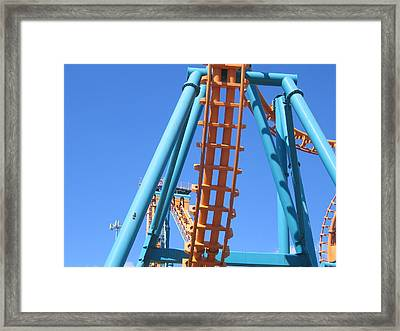 Six Flags America - Two-face Roller Coaster - 12122 Framed Print