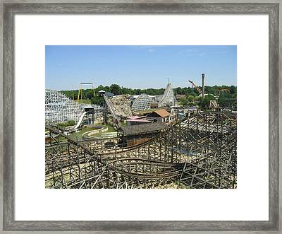 Six Flags America - Wild One Roller Coaster - 121210 Framed Print