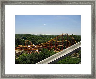 Six Flags America - Wild One Roller Coaster - 121211 Framed Print by DC Photographer