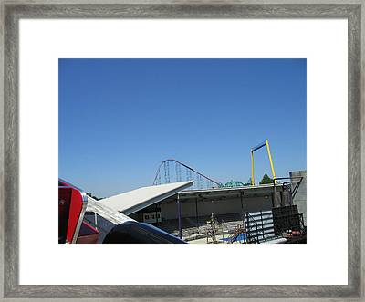 Six Flags America - Wild One Roller Coaster - 12122 Framed Print