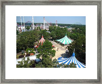 Six Flags Great Adventure - 121210 Framed Print by DC Photographer