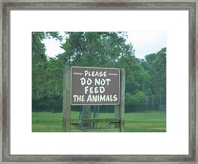 Six Flags Great Adventure - Animal Park - 121218 Framed Print by DC Photographer