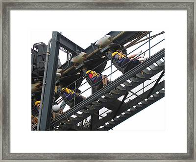 Six Flags Great Adventure - Medusa Roller Coaster - 12123 Framed Print by DC Photographer