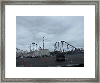 Six Flags Magic Mountain - 12121 Framed Print by DC Photographer
