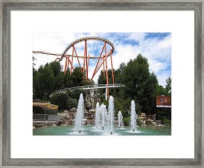 Six Flags Magic Mountain - 12124 Framed Print