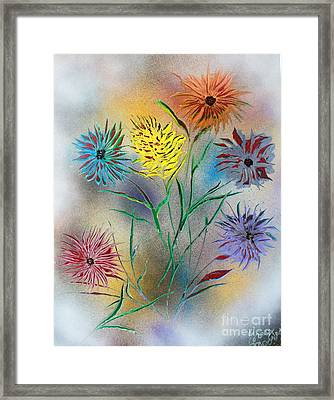 Six Flowers Framed Print by Greg Moores