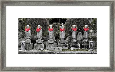 Six Happy Buddhas Framed Print by Alan Toepfer