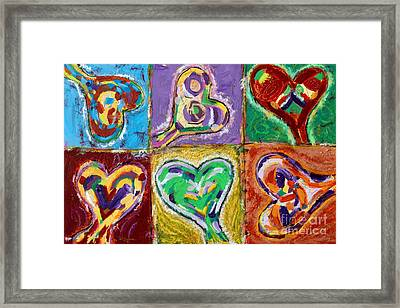 Six Hearts Framed Print by Kelly Athena
