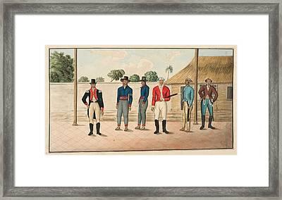 Six Javanese Officers And Men Framed Print