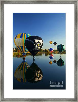 Six On The Pond Framed Print by Mike  Dawson