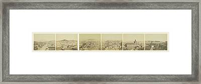 Six-part Panorama Of San Francisco From San Francisco Album Framed Print