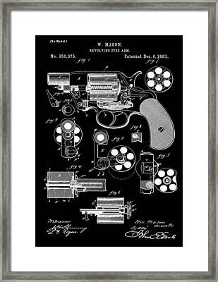 Six Shooter Patent Framed Print by Dan Sproul
