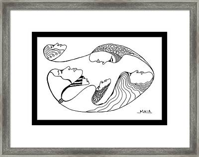 Six Sisters Framed Print by Ama White Owl