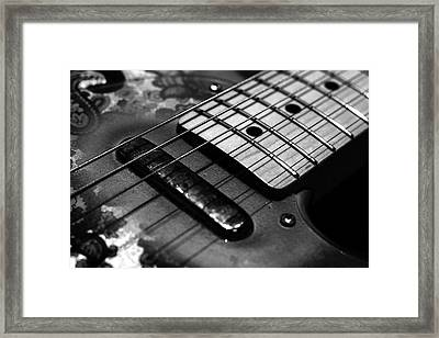 Six String Framed Print by Mark Rogan