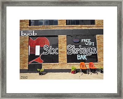 Six Strings Bar - You Might Be A Redneck If Framed Print by Ella Kaye Dickey