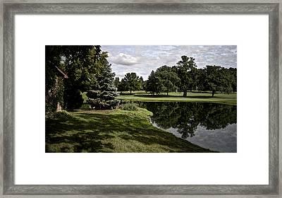 Sixth Hole Reflections Framed Print