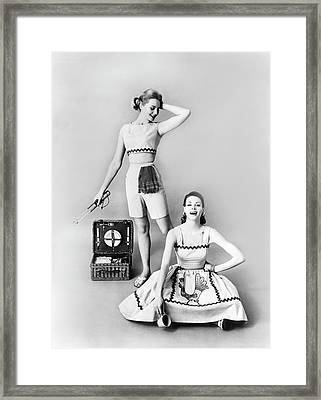 Sixties Outdoor Fashion Framed Print