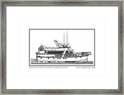 Sixtyfive Foot Defever Trawler Yacht Framed Print by Jack Pumphrey