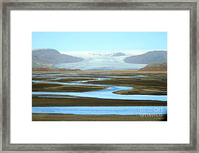 Framed Print featuring the photograph Skaftafell Glacier by Paula Guttilla