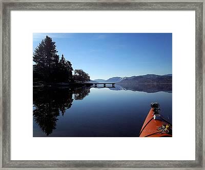 Skaha Lake Calm 2 Framed Print