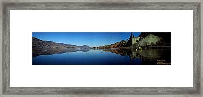Framed Print featuring the photograph Skaha Lake Kayaking Panorama by Guy Hoffman
