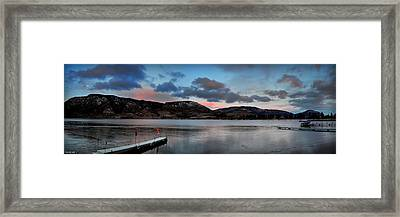 Skaha Lake Panorama 02-19-2014 Framed Print