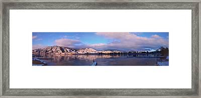 Skaha Lake Panorama 2/5/2014  Framed Print