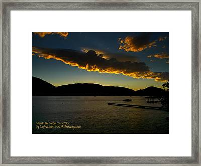 Framed Print featuring the photograph Skaha Lake Sunset July02/2013 by Guy Hoffman