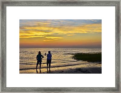 Skaket Beach Sunset 4 Framed Print by Allen Beatty