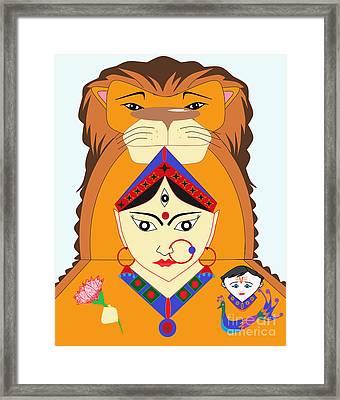 Skandmata Framed Print by Pratyasha Nithin