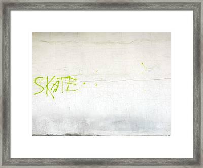 Skate Framed Print by Valentin Emmanouilidis